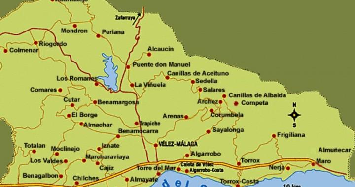 De 5 routes van de Axarquia