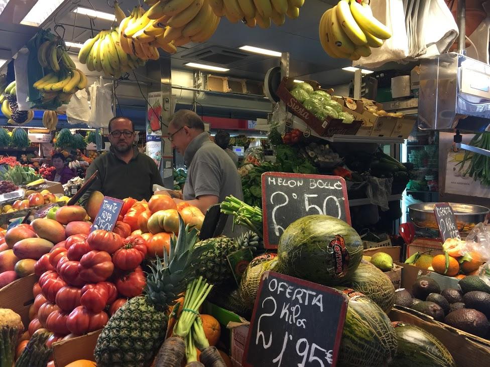De grote markt van Malaga. Atarazanas.