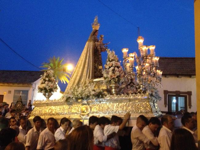 Feesten in Malaga. Virgen del Carmen