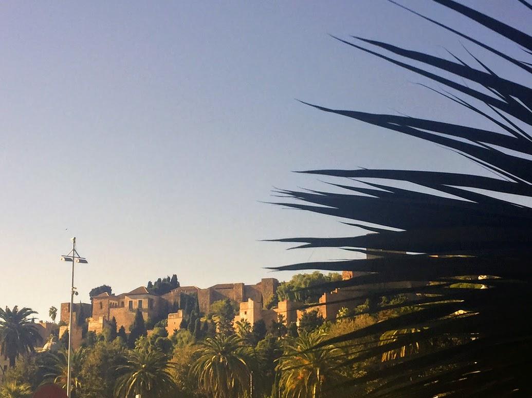 De vesting Alcazaba in Malaga